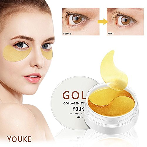 New Crystal 24K Gold Collagen Eye Mask, Anti Aging, Anti Wrinkle, Puffy Eyes, Remove Bags & Dark Circles Under Eye-Q0959