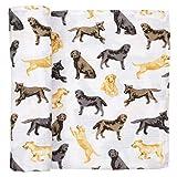 Mud Pie Labrador Retriever Print Muslin Baby Swaddle Blanket, 12140055
