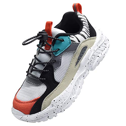 Harvest Land Unisex Kinder Sneakers Tennisschuhe mädchen Hallenschuhe Jungen Schuhe Festliche Leuchtschuhe Wanderschuhe Turnschuhe Sportschuhe für Jungs, Weiß, 34 EU