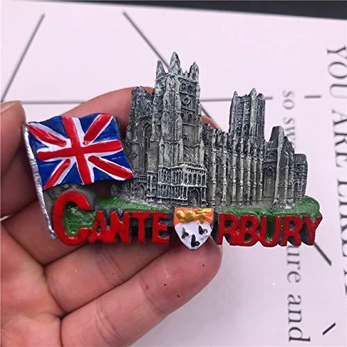 XIAOXIAO Etiqueta engomada del refrigerador de Color Tailandia Corea Francia Alemania Viena Inglaterra España Portugal Recuerdo turístico imán de Nevera magnético-Bandera de Canterbury