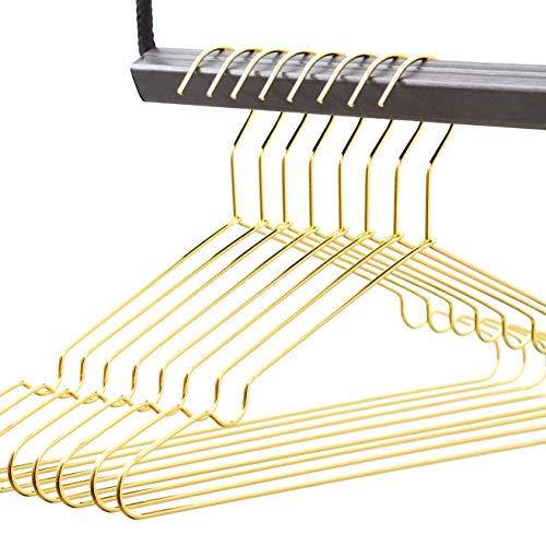 rod & knot Design Kleiderbügel in Gold aus sehr stabilem Draht – 8 Stück
