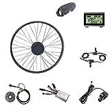 Schuck Kit de modificación de Bicicleta eléctrica Rueda Delantera Motor Rueda 16-29 Pulgadas Rueda 700C 36V48V 250W con Kit de Pantalla ebike KT LED900S (36V250W LED900S 16inch)