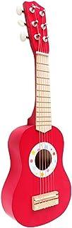 لعبة آلة موسيقية - 21 بوصة أطفال ملون لعبة الجيتار آلات موسيقية قابلة للعب هدية تعلم الجيتار للأطفال - أحمر