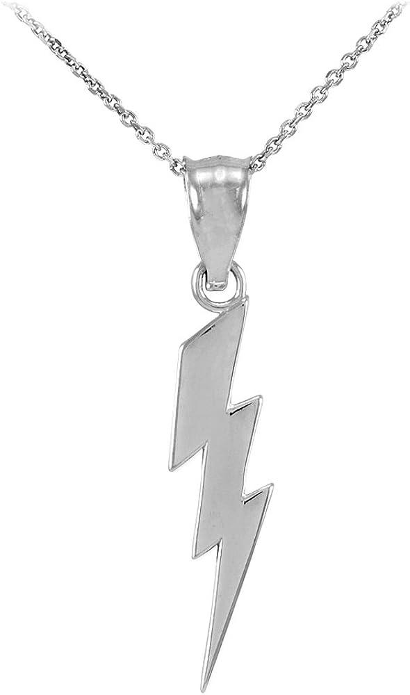 Tiny Lightning Bolt Necklace Sterling Silver Small Lightning Bolt Charm Necklace Tiny Bolt Necklace Small Lightning Bolt Necklace