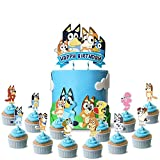 Blue Dog Cake Topper Cupcake Toppers Theme...