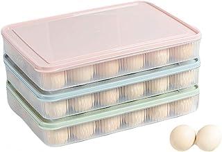 Chytaii Boîte à Oeufs avec Couvercle Grande Capacité pour Conserver les Oeufs dans les Placards et Réfrigérateur Economie ...