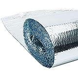 WerkaPro 10400- Isolant métallisé à bulles d'air - 3 couches - Épaisseur de 5mm - Poids 160 gr/m² - 10m2 : 1.25 x 8 m - Facile à poser et à découper