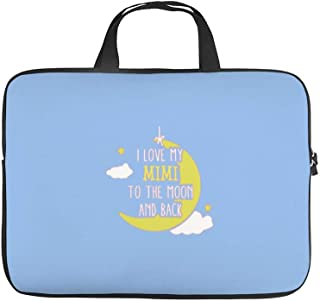 I Love My Mimi to The Moon and BackWaterproof Laptop Bag Tablet Handbag Notebook Carrying Case Briefcase 17Inch