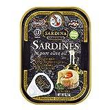 Adriatic Sardina Wild Caught Sardines in Extra Virgin Olive Oil, 3.7 oz Tin (Pack of 6)