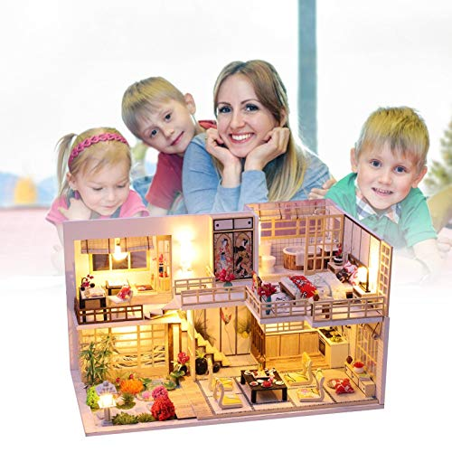 ELEC TECH DIY hut Handmade Jinghe Yaju Girl Heart Small House Model Assembled Art Villa Toy Christmas Birthday Gift Girl