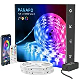 65.6ft LED Strip Lights, Ultra-Long RGB 5050 LED Strips with Remote & APP Controlled, Color Changing Strip Light, Music Sync, Tape, LED Light Strip for Bedroom, Room, Kitchen, Home Decor
