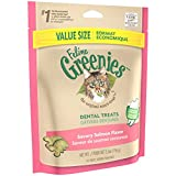 FELINE GREENIES Natural Dental Care Cat Treats Savory Salmon Flavor, 5.5 oz. Pouch
