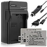 2 Batteries + Chargeur (Auto/Secteur) pour Canon LP-E5 / EOS 450D, 500D, 1000D /...