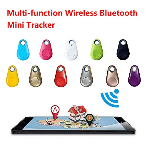 Tracker Smart Finder Locator, Phone Alarm Anti Lost Selfie Shutter Wireless Tracking Device GPS Tracking Collar for Kids Pets Key Wallet Dog Cat Bag Car (White+Green)
