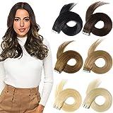Best Tape In Hair Extensions - ROSEBUD Tape in Hair Extensions REMY Human Hair Review