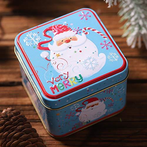 Dasongff Kerstmis snoep ronde opbergdoos kerstboomversiering kerstcadeaubox voor snoepjes chocolade 1 Pc D