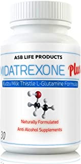 M Trexone Plus - Anti-Alcohol & Alcohol Support Supplement Natural Alcohol Cravings Support Detox KUDZU Milk Thistle L Glutamine Folate Niacin VIT C Biotin B Vitamins Folic Acid Best Control Formula