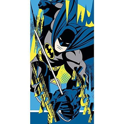 Batman DC16015 Badetuch, Handtuch, Strandtuch, Baumwolle, Mehrfarbig