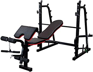 Home Gym Weight Bench Press Workout Multi Station Foldable Adjustable Fitness Exercise