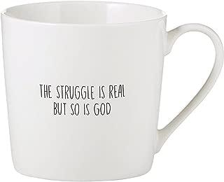 Struggle is Real So is God 14 Ounce Bone China Cafe Coffee Mug