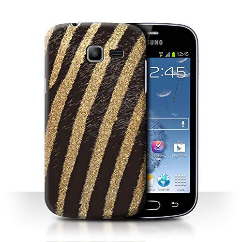 eSwish Phone Case/Cover/Skin/SGT-CC/Fashion Animal Print patroon Collection Samsung Galaxy Trend Lite/S7390 Goud glitter zebra