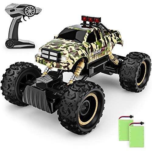 BEZGAR RC Car, 1:12 Monster Truck 4WD Dual Motors Rechargeable Off Road Remote Control Truck Large Size High Speed Fast Racing Monster Vehicle Electric Hobby Toy Crawler