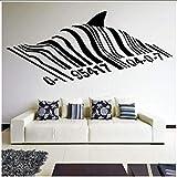 jukunlun Código De Barras Shark Wall Decal Vinyl Street Art Graffiti Wall Art Mural Shark Design Home Street Decoración De Pared 57X26Cm