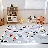 Loartee Coral Velvet Tappetino Area tappeti Tappeto per Bambini Moquette da Pista per Bambini, Dimensione:150x195 cm