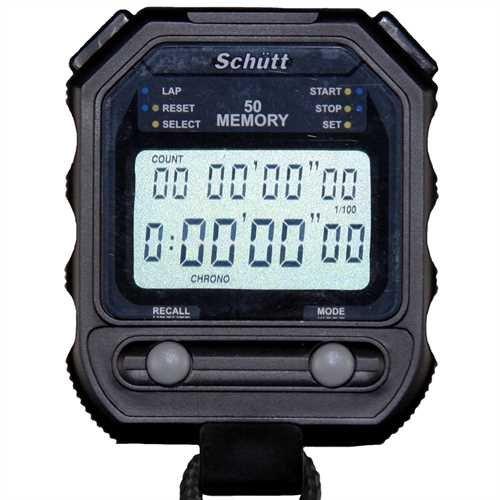 Schütt Stoppuhr PC-73 (50 Memory Speicher | Timer/Pacer | - Digital Profi Stoppuhr mit Druckpunktmechanik | spritzwasserfest |Trainer | Sportlehrer