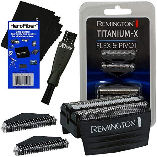 Remington Rasierer-Screens und -schneider Ersatzköpfe (SPF300) + doppelseitige Rasierbürste + HeroFiber Reinigungstuch kompatibel mit Remington F4900, F5800, F7800, F7805 Elektrorasierer für Herren