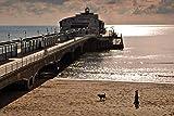 Andy Evans Photos Fotografía de Bournemouth Pier en una foto de 45,7 x 30,4 cm de Bournemouth Pier and Beach Dorset Inglaterra Reino Unido paisaje foto a color