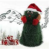 Heyzen Árbol de Navidad Que Puede Cantar y Bailar Canto eléctrico Bailando Árbol de Navidad Muñeca D...
