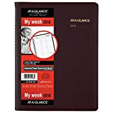 AT-A-GLANCE Weekly Appointment Book / Planner, January 2018 - January 2019, 8-1/4' x 10-7/8', Winestone (7095050)