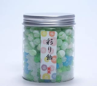 Crystal series KONPEITO & Soda candy 2 layers Japanese Candy with Bottle Container (Ajisai & Melon soda)