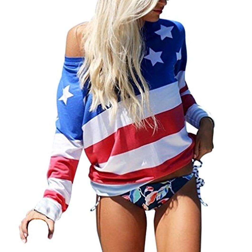 Spbamboo Women American Flag Casual Summer Camis Tank Tops Blouse Loose T-Shirt