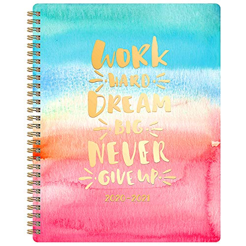 """Teacher Planner 2020-2021 - Planner for Academic Year, Jul 2020 - Jun 2021, 8"""" x 10"""", Lesson Plan Organizer, Flexible Colorful Hardcover with Twin-Wire Binding"""