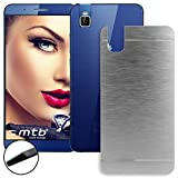 mtb more energy® Hard-Hülle Brushed Metal für Huawei Shot X/Honor 7i (5.2'') - Silber - Schutz-Hülle Cover Tasche