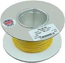 White 1mm Cable 14//0.30mm 50M Reel PVC Automotive Wire