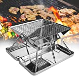 BBQ <span class='highlight'>Grill</span>, Folding <span class='highlight'>Grill</span>, <span class='highlight'>Stainless</span> <span class='highlight'>Steel</span> Folding BBQ <span class='highlight'>Grill</span> for 3-4 People Picnic <span class='highlight'>Barbecue</span> <span class='highlight'>Tool</span> <span class='highlight'>Barbecue</span> <span class='highlight'>Accessories</span> for Camping Outdoor