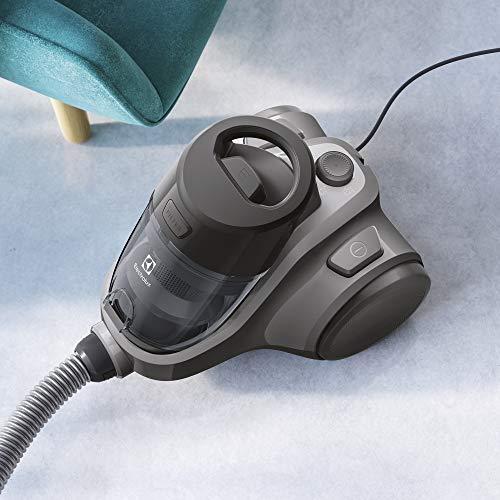 Electrolux EC41-4T Ease C4 Aspirapolvere Senza Sacco, 750 W, 1.8 Litri, 80 Decibel, Acciaio, Nero