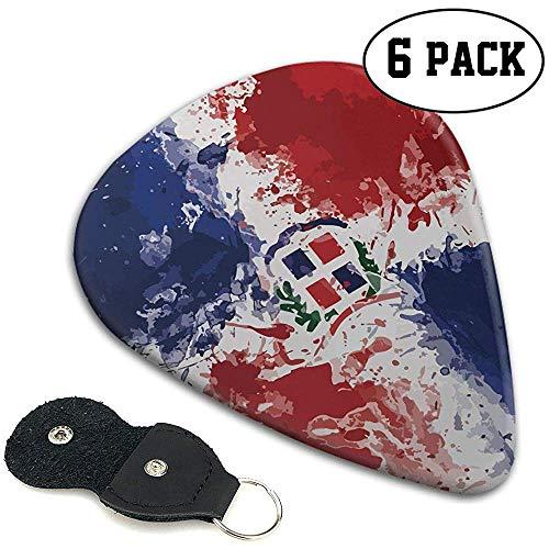 Dominikanische Republik Flag 351 Shape Classic Celluloid Plektren 6er Pack