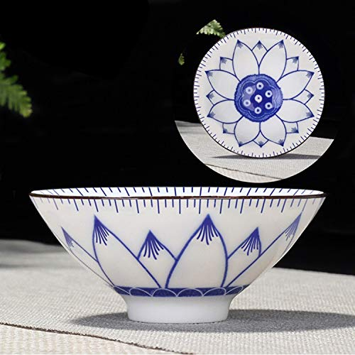 Water LIJM Household Handgeschilderde Keramiek Kung Fu Tea Set Thee Van Bowl, Maat: Small (Snow Plum Blossom) Cups (Color : Hibiscus)