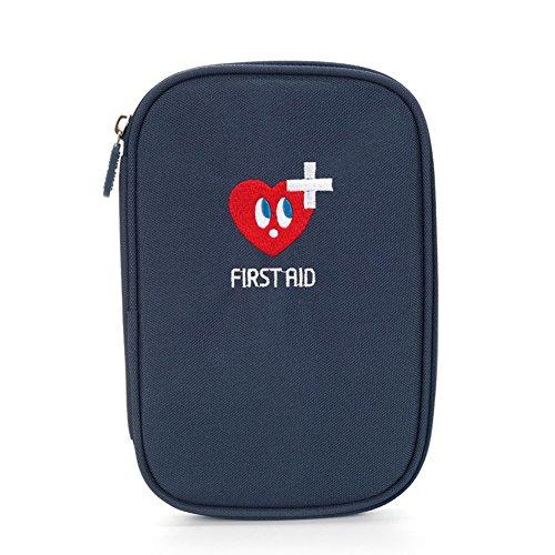 Lifesport Erste Hilfe Set, Verbandkasten Erste-Hilfe-Koffer First Aid Kit Notfalltasche Medizinisch Tasche Oxford Tuch Medicine Pouch für Haus Auto Camping Jagd Reisen Natur und Sport (Dunkelblau)