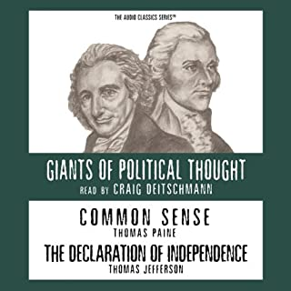 Common Sense and the Declaration of Independence (Knowledge Products) Giants of Political Thought Series audiobook cover art