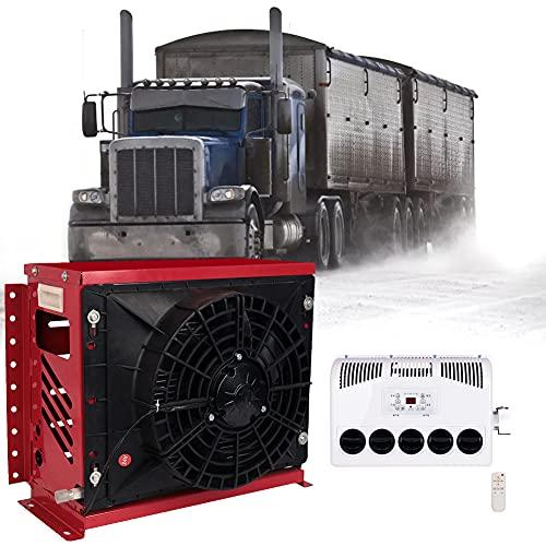 HAIT Aire Acondicionado Caravanas Claraboya Caravana, Consumo de Energía de 24 V /12V DC Aire Acondicionado Portátil, Capacidad de Enfriamiento: 2800W,Rojo,12V