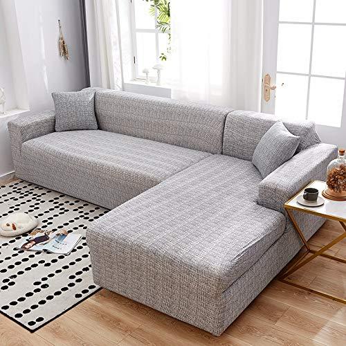 PPMP Funda de sofá geométrica Flexible para Sala de Estar Funda de sofá con Todo Incluido combinación de sofá Modular de Esquina en Forma de L A8 4 plazas