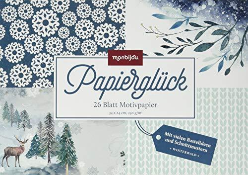 Papierglück – Winterwald: 26 Blatt Motivpapier (monbijou)