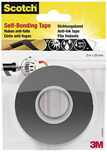 Scotch 4704 Reparaturband, selbstverschweißend, 25 mm x 3 m, schwarz