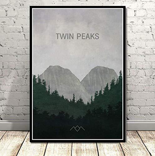 Wc-asdcc Leinwand Malerei Poster und Drucke Twin Peaks TV-Serie zeigt Classic Movie Anime Art Wandbilder Home Decor 50x70cm CDG140