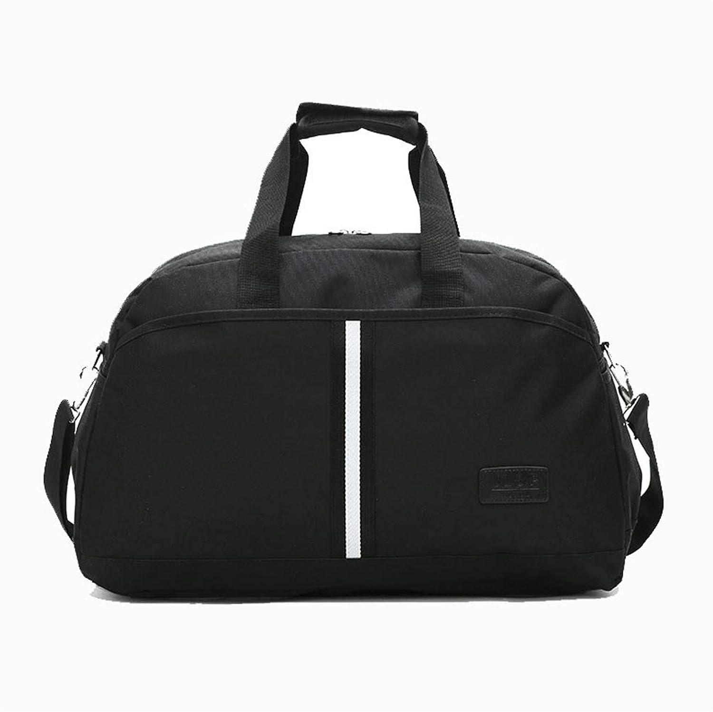 Portable Lightweight Simple Small Bag Gym Bag Male Short Trip Bag Sports Bag Shoulder Diagonal Bag Business Travel Package (color   Black)